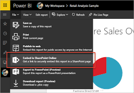 chart pro copy service embed with report web part in sharepoint online power bi