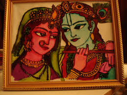 krishna and radha completed 2nd glass painting