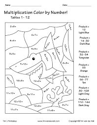 Color the pictures online or print them to color them with your paints welcome to our supersite for interactive & printable online coloring pages! Printable Color By Number Multiplication Worksheets Pdf Tim S Printables