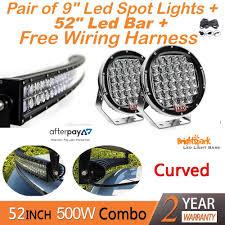 "52"" led bar 9 cree led spotlights harness 52"" led bar 9 cree led spotlights harness brightsparkledco"