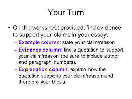fast food essay ppt video online explanation column explain how the quotation supports your claim reason and therefore your thesis
