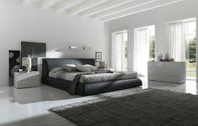 contemporary leather upholstered bed design