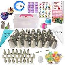 50 Pcs Russian Piping Tips Set With Storage Case 21 Numbered Easy To Use