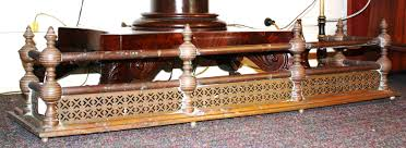 victorian fireplace fender is solid brass fun and decorative ball with final design is unique measures 42 long 13 deep and 10 high