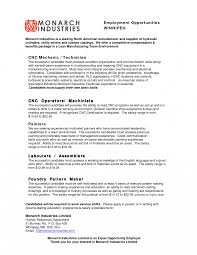 Stirring Machinist Resume Samples Sewing Machine Operator Sample