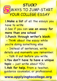 stuck tips to jump start your college essay applying to college 5 ways to reduce college application essay stress