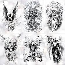 Lc539 904 боди арт хеллоуин эскиз ангел большой иисус волк рождество
