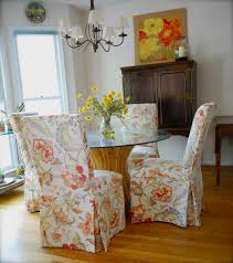 dining room chair coverspatterned covers mesmerizing floral motif patterned parson chair covers at dining space