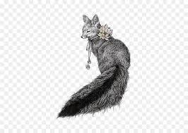 drawing ilrator art ilration hand painted black and white fox