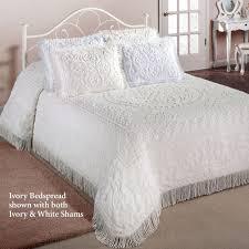 white chenille bedspread. Wonderful White Chenille Medallion Bedspread In White