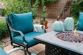 see how alex evjen of avestyles used outdoor patio furniture to transform her backyard into a