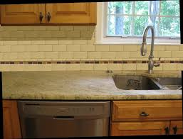 Ceramic Kitchen Backsplash Border Or No Border With A Ceramic Subway Tile Back Splash For