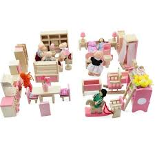 Cheap dolls house furniture sets Miniature 2017 Cute Wooden Dolls House Furniture Toy Kids Toys With Miniature Kitchen Bathroom Kitchen Bed Livingroom Restaurant Bedroomin Furniture Toys From Toys Aliexpress 2017 Cute Wooden Dolls House Furniture Toy Kids Toys With Miniature