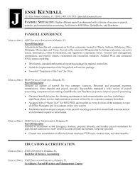 Payroll Resume Template Professional User Manual Ebooks