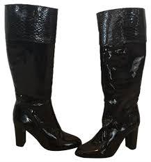 coach black patent boots image 0