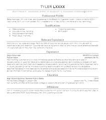 Retail Resumes Sales Associate High End Retail Resume Sales Associate Example Objective Examples
