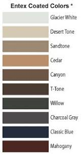 Andersen Color Chart 10 Best Steel Siding Images Steel Siding Steel Outdoor Decor