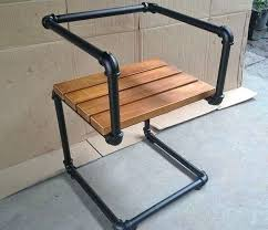 steel pipe furniture plans black chair pipes industrial