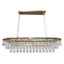 celeste oval glass drop crystal chandelier brass finish view full size