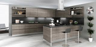Modern Gray Bamboo Kitchen Cabinets