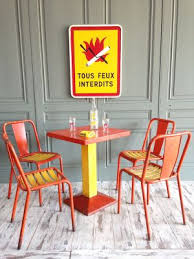 Xavier pauchard french industrial dining room furniture Red Xavier Pauchard French Industrial Dining Room Furniture Industrial Orange Yellow Dining Set By Espace Nord Ouest Xavier Pauchard French Industrial Dining Room Furniture Modhaus