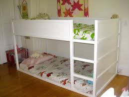 cool picture of kid bedroom decoration ideas using legless kid ikea white bunk bed including oak wood vinyl bedroom flooring and all white kid bedroom wall