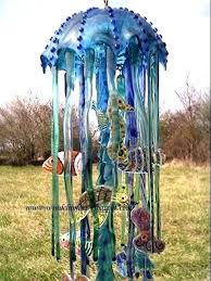 stained glass wind chime stain chimes mini fused on west coast by under the sea diy stained glass wind chime