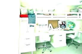 Bunk Bed Office With Desk Under It Loft Beds Desks
