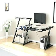 contemporary glass computer desk modern glass computer desk modern glass computer desk home stunning and intended