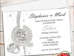 15 Free 25th Anniversary Invitation Templates 25th