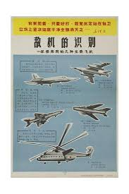 Air Force Aircraft Identification Chart Chinese Military Poster Aircraft Identification Chart Soviet Union Aircraft