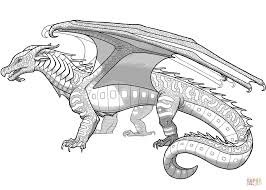 Small Picture Seawings Dragon from Wings of Fire coloring page Free Printable