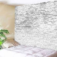 stone brick decorative tapestry wall hangings grey white w51 inch l59 inch
