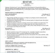 Pharmacy Technician Resume Examples New Pharmacy Technician Resume Example New Sample Resume For Pharmacy