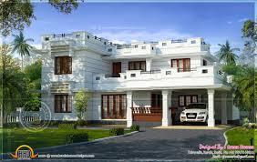 Beautiful Flat Roof House Design Square Feet Kerala Home