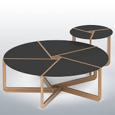 blu dot pi coffee side table royalty free 3d model preview no