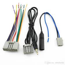 leewa car head unit harness aux antenna adapter for honda accord crv Honda Wire Plugs at Honda Factory Wire Harness