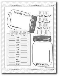 Weight Tracker Chart Printable A 7 Day 1 200 Calorie Meal Plan Workout Weight Loss Weight