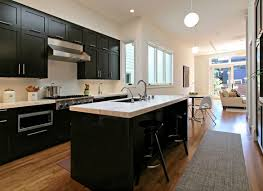 kitchens with painted black cabinets. Unique Kitchens Fair Kitchen With Black Cabinets Or Painted Vs Stained  Dark In Kitchens