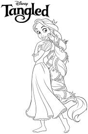 Small Picture Disney Princess Tangled Rapunzel Coloring Pages Free Printable For