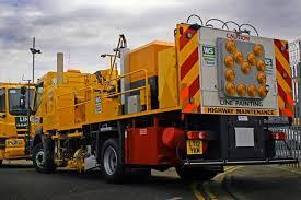 Image result for highway line painter truck