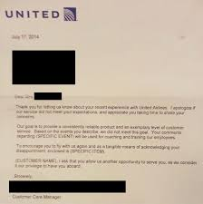 Customer Apology Letter Examples United Airlines pens least sincere apology letter of all time The 86