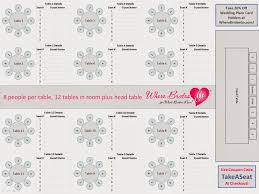 Wedding Table Seating Chart Printable 50 130 Guests Customized