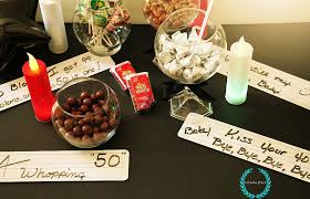 candy table for a 50th birthday party