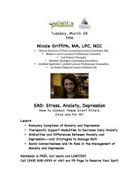 sad stress anxiety depression an interview nicole sad stress anxiety depression an interview nicole griffith ma lpc ncc