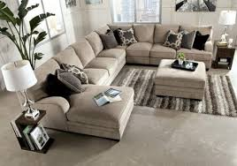 extra large sectional sofas with chaise. Exellent Sofas Cream Upholstered Sectional Sofa With Chaise And Cushion Plus Ottoman  Coffee Table Added Brown Wooden Side White Lamp Appealing Extra Large  To Sofas A