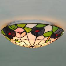 stained glass ceiling light. 12/16 Inch Tiffany Stained Glass Ceiling Lighting CL289 Light