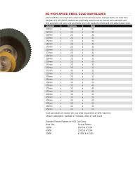 Cold Saw Blade Chart Skarpaz Catalog Pg1 24_0614 23 Skarpaz Tooling Systems Inc