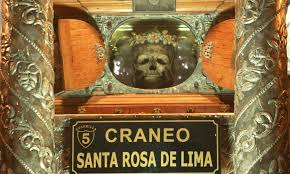 reliquias - cráneo de Santa Rosa de Lima