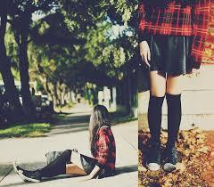 converse knee high boots. amanda mabel - plaid sweater, leather skirt, black knee high socks, converse grey top, satchel tartan + highs | lookbook boots